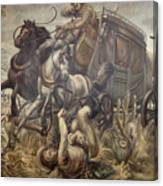 Mail Coach Attacked By Bandits Canvas Print