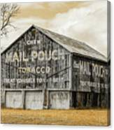Mail Pouch Barn - Us 30 #3 Canvas Print
