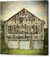 Mail Pouch Barn - Us 30 #7 Canvas Print