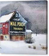 Mail Pouch Tobacco Barn Canvas Print