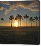 Maili Sunset Canvas Print
