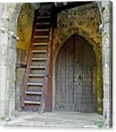 Main Entrance To St Mary's Church At Brading Canvas Print