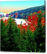 Maine Long Pond Acadia  Canvas Print