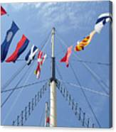 Main Mast Of Ss Great Britain At Bristol England Canvas Print