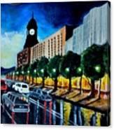 Main Street Clock Tower Canvas Print