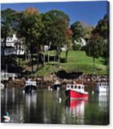 maine 18 Rock Port harbor View Canvas Print