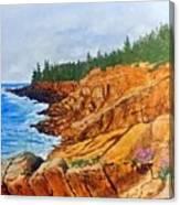 Maine Coast Acadia National Park Canvas Print