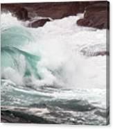 Maine Coast Storm Waves 2 Of 3 Canvas Print