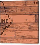 Maine Map Brand Canvas Print
