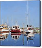 Maine Marina Evening Canvas Print
