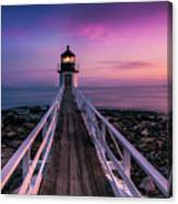 Maine Sunset At Marshall Point Lighthouse Canvas Print