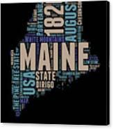 Maine Word Cloud 1 Canvas Print
