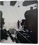 Maintenance Sheds Holbeck Leeds Canvas Print