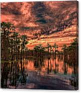 Majestic Cypress Paradise Sunset Canvas Print