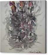 Majestic Floral E Canvas Print