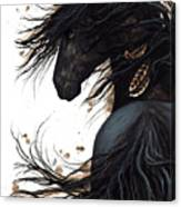 Majestic Friesian 143 Canvas Print