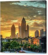 Majestic Gold Midtown Atlantic-station Atlanta Sunrise Art Canvas Print