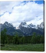 Majestic Grand Tetons Canvas Print