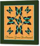 Majestic Green Swallowtail Wheel Canvas Print
