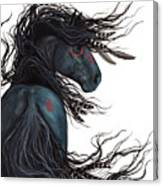 Majestic Horse Friesian 135 Canvas Print