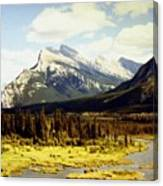 Majestic Mount Rundle Canvas Print