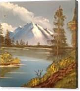 Majestic Mountain Lake Canvas Print