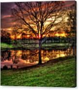 Majestic Sunrise Reflections Art Canvas Print