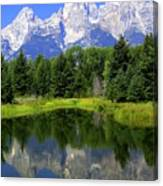 Majestic Tetons Canvas Print