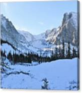 Majestic Winter Landscape Canvas Print