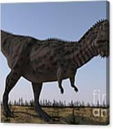 Majungasaurus In A Barren Environment Canvas Print