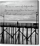 Make A Small Moment A Great Moment - Black And White Art Canvas Print