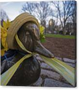 Make Way For Ducklings B.a.a. 5k Spring Bonnet Canvas Print