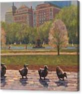 Make Way For Ducklings Canvas Print