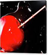 Making Homemade Sticky Toffee Apples Canvas Print