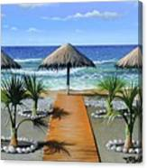 Makry Gialos Beach Canvas Print