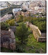 Malaga Fortifications Canvas Print