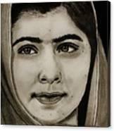 Malala Yousafzai- Teen Hero Canvas Print