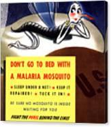 Malaria Mosquito Canvas Print