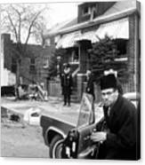 Malcolm X, Returns Home After His House Canvas Print