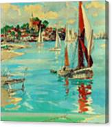 Maldon, England, Sailing Boats Canvas Print