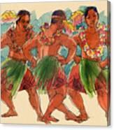 Male Dancers Of Lifuka, Tonga Canvas Print