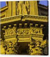 Male Statue Palace Of Fine Arts Canvas Print