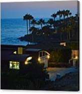 Malibu Beach House - Evening Canvas Print