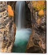 Maligne Canyon Vertical Panorama Canvas Print