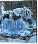 Maligne Canyon Winter Wonders Canvas Print