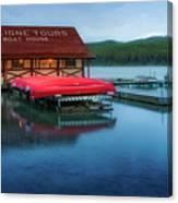 Maligne Tours Boat House Canvas Print