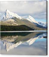 Malingne Lake Reflection, Jasper National Park  Canvas Print