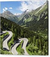 Maloja Pass In Graubunden, Switzerland Canvas Print