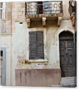 Maltese House On A Steep Street Canvas Print