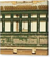 Maltese Wooden Enclosed Balcony And Windows Canvas Print